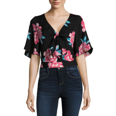 by&by Elbow Sleeve Floral Kimono Juniors