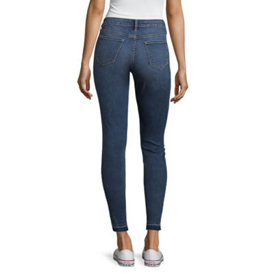 Arizona Skinny Fit Ankle Jeans-Juniors