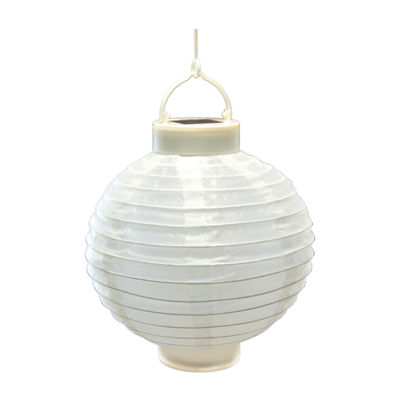 "Solar Powered 8"" Nylon Lanterns (Set of 3)"""