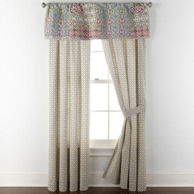 JCPenney Home Kahlo Rod-Pocket Single Curtain Panel