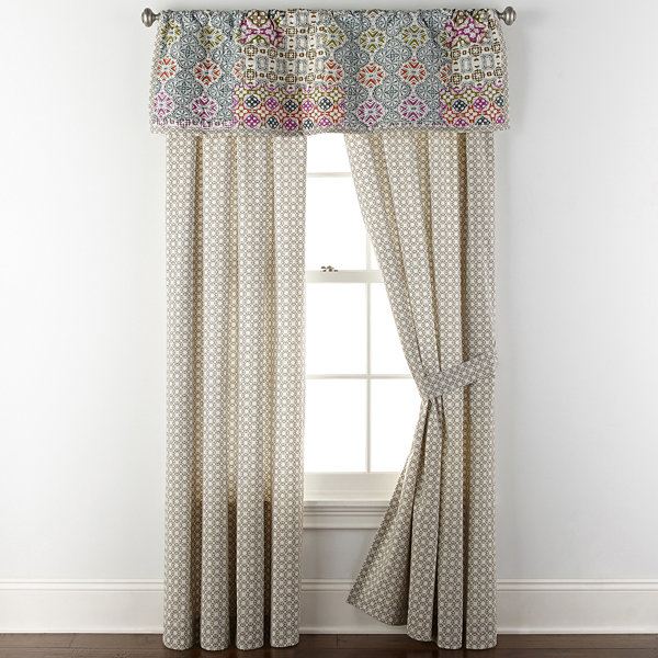 JCPenney Home Kahlo Rod-Pocket Curtain Panel