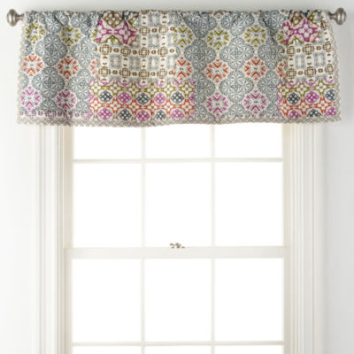 JCPenney Home Kahlo Rod-Pocket Tailored Valance