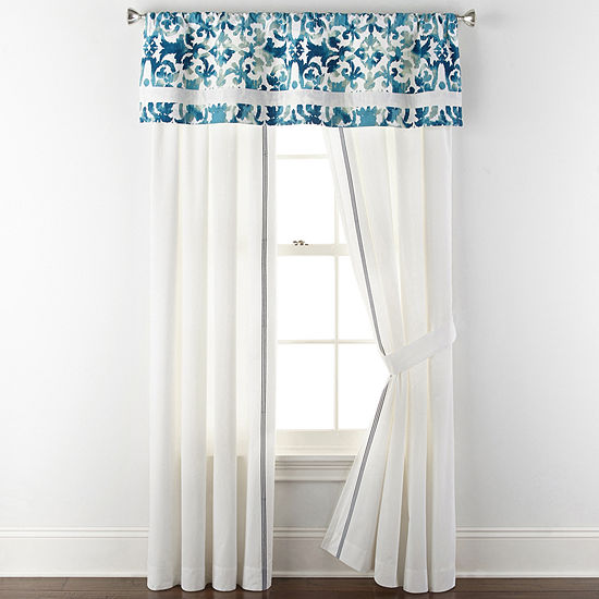 Liz Claiborne Rod-Pocket Single Curtain Panel