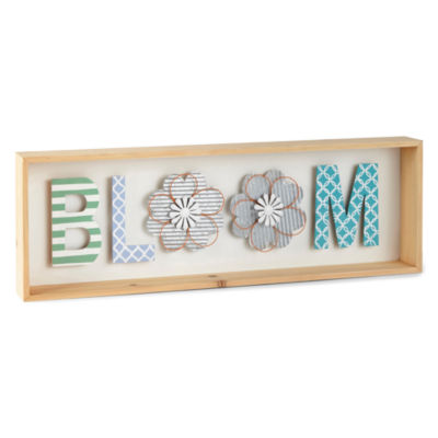 JCPenney Home Spring 24x8 Bloom Wall Art Wall Sign