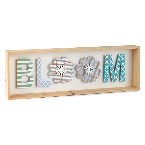 JCPenney Home Spring 24x8 Bloom Wall Sign