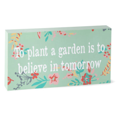"""JCPenney Home 5x10 Word Block """"To Plant A Garden"""""""
