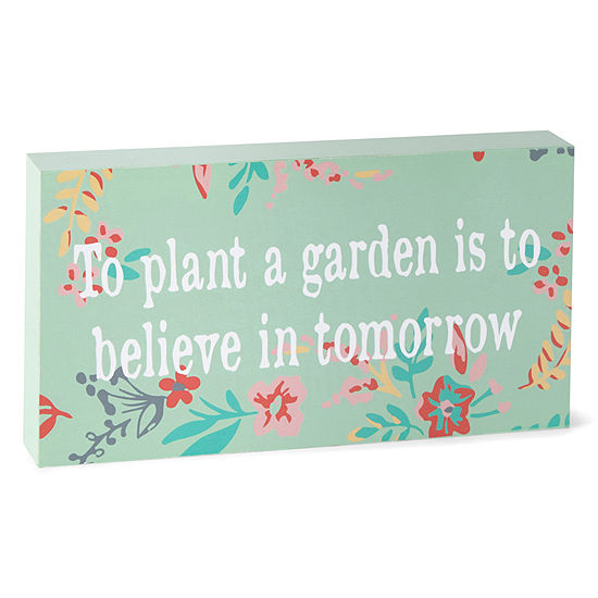 JCPenney Home 5x10 Word Block To Plant A Garden Wall Sign