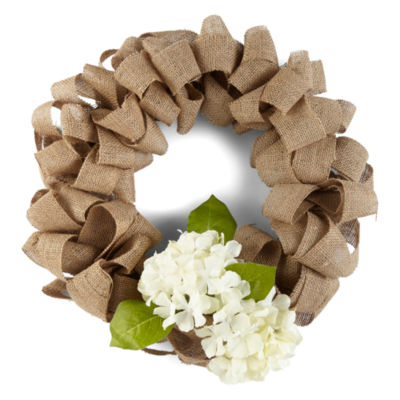 JCPenney Home Spring Burlap Wreath
