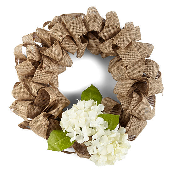 JCPenney Home Spring Burlap Wreath Wreath