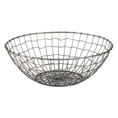 JCPenney Home Meatal Wire Basket Tabletop Decor