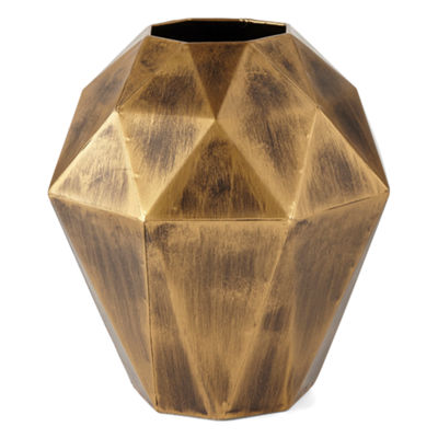 JCPenney Home Gold Geo Vase