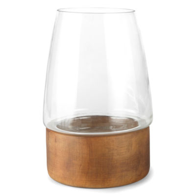 JCPenney Home Wood Base Hurricane