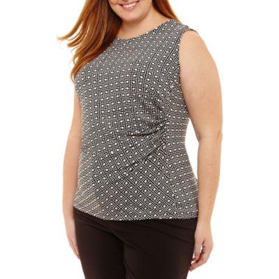Liz Claiborne Sleeveless Shell- Plus