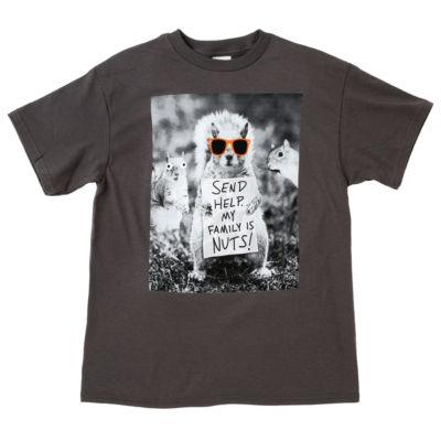 Short Sleeve Crew Neck T-Shirt Boys 4-20