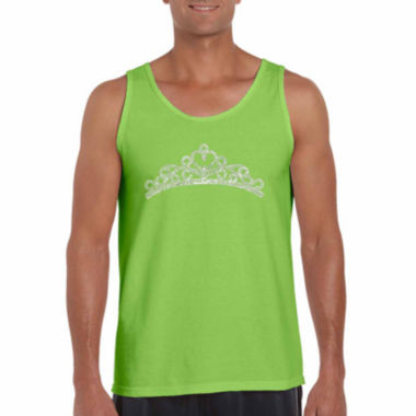 Los Angeles Pop Art Princess Tiara Word Art Tank Top