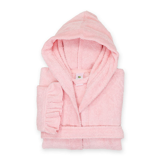 Linum Kids 100% Turkish Cotton Hooded Terry Bathrobe With Ruffle - JCPenney e5a6a759c