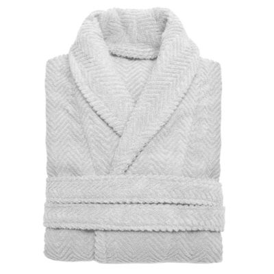 Linum Home Unisex Herringbone Weave Bathrobe