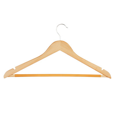 Honey-Can-Do® No Slip Wooden Coat Hangers, Maple Wood (24 Pack)