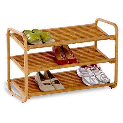 Honey-Can-Do® 3-Tier Bamboo Shoe Rack Organizer