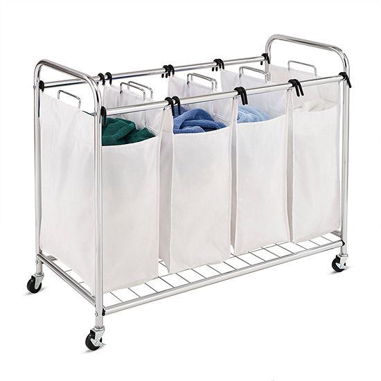 Honey-Can-Do® Heavy Duty Quad Rolling Laundry Sorter Hamper