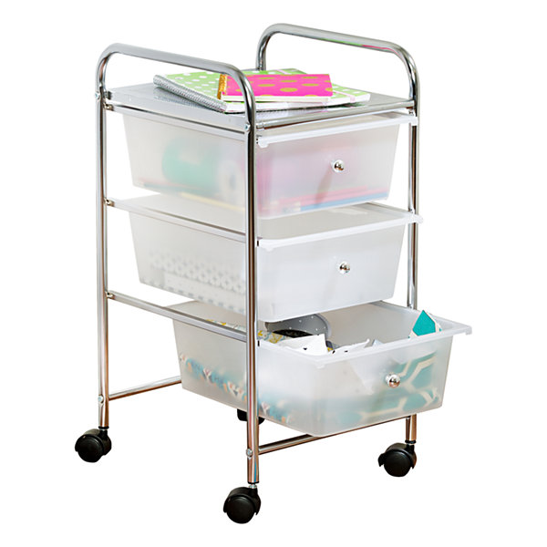 Honey-Can-Do® 3-Drawer Plastic Storage Cart on Wheels
