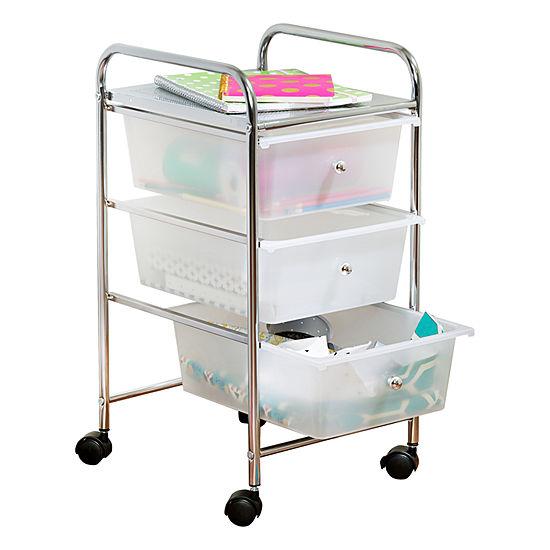 Honey-Can-Do® 3-Drawer Plastic Storage Cart on Wheels