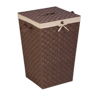 Honey-Can-Do® Decorative Woven Hamper with Lid