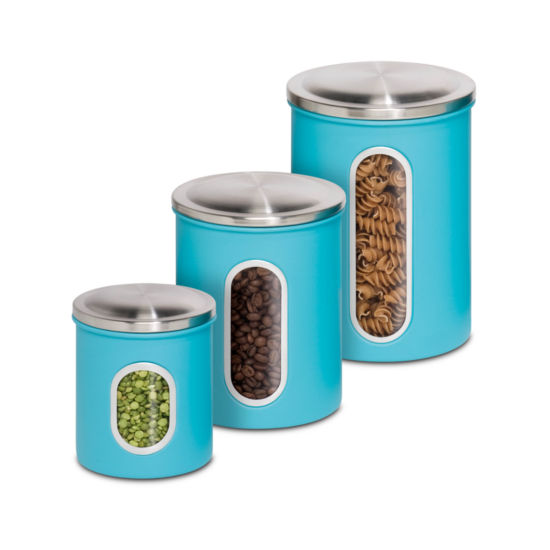 Honey-Can-Do® 3-Piece Nested Kitchen Storage Canister Set