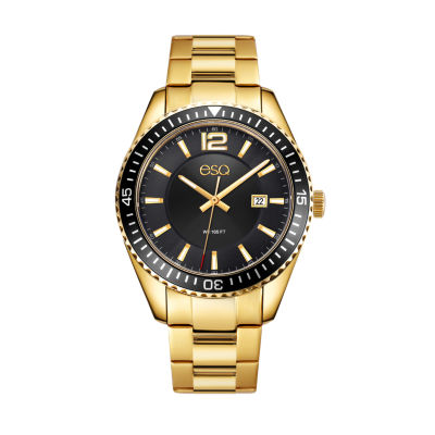 Esq Mens Gold Tone Bracelet Watch-37esq016101a