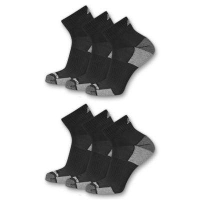 New Balance Womens 6 Pair Quarter Socks - Extended Sizes