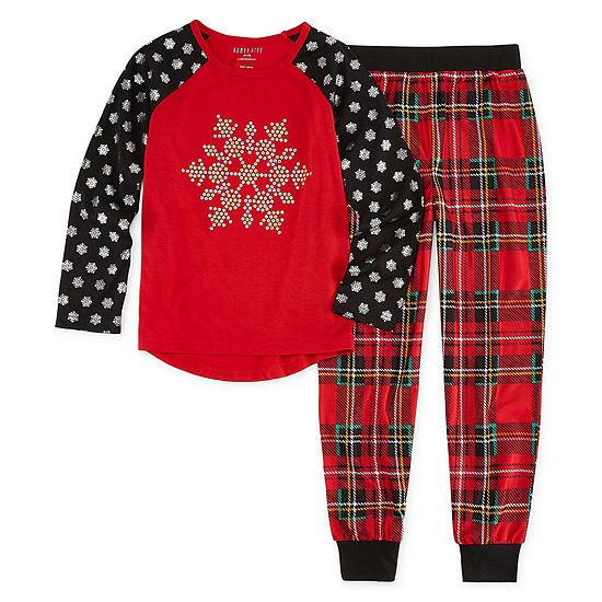 Holiday Snowflake 2pc Pant Pajama Set Girls