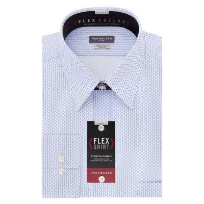 Van Heusen Flex Collar Big And Tall Mens Point Collar Long Sleeve Stretch Dress Shirt