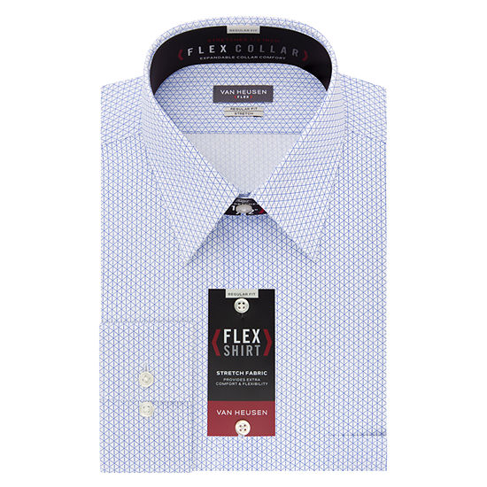 Van Heusen Flex Collar Big And Tall Mens Point Collar Long Sleeve Stretch Dress Shirt