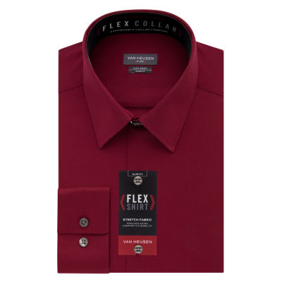 Van Heusen Long Sleeve Twill Dress Shirt - Slim