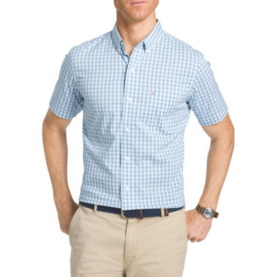 IZOD® Short Sleeve Plaid Button-Front Shirt