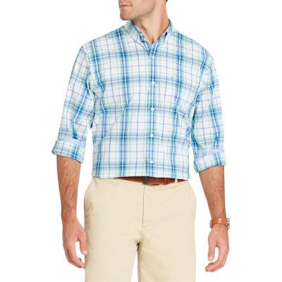 IZOD Long Sleeve Premium Essential Plaid Button Down Shirt