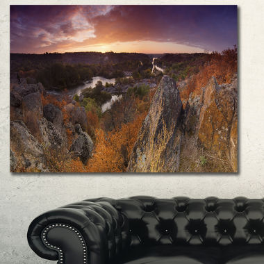 Design Art Rural Autumn Sunset Panorama LandscapeCanvas Art Print