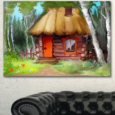 Designart Rural Landscape With House Extra LargeLandscape Canvas Art Print - 3 Panels