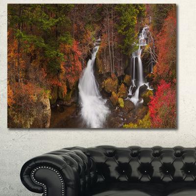 Designart Ryuzu Falls Near Nikko Japan LandscapeCanvas Art Print