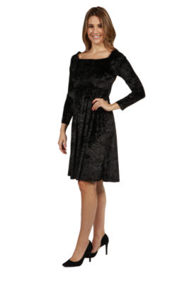 24/7 Comfort Apparel Palisades Velvet Dress