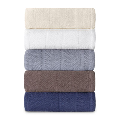Eddie Bauer Herringbone Cotton Blanket