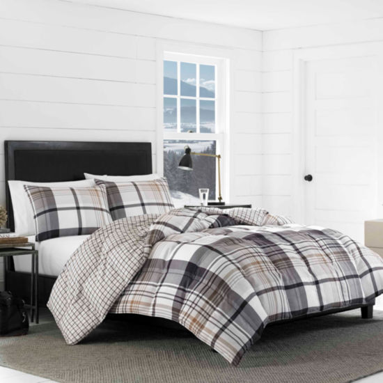 Eddie Bauer Normandy Plaid Black Comforter Set