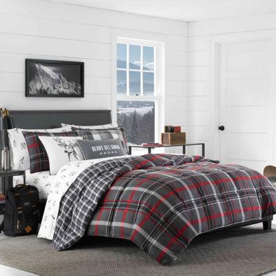 Eddie Bauer Willow Plaid Grey Comforter Set