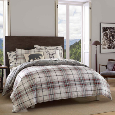 Eddie Bauer Alder Plaid Charcoal Comforter Set