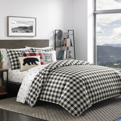 Eddie Bauer Mountain Plaid Black Comforter Set