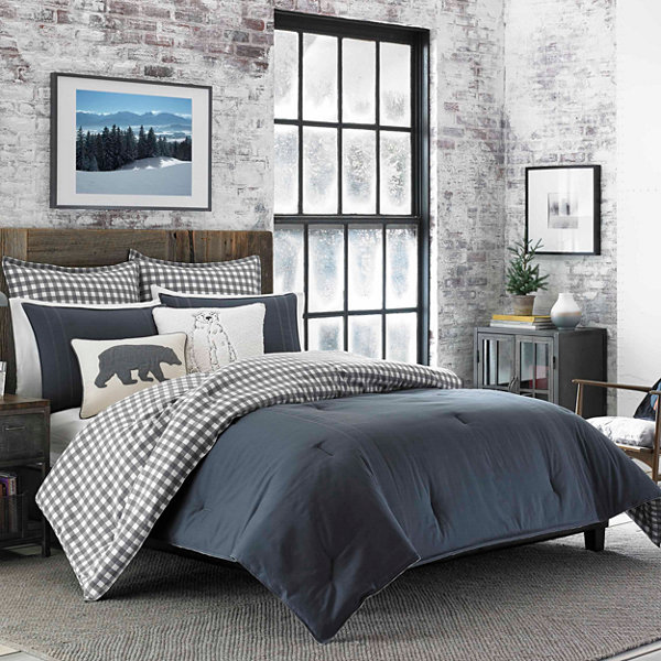 Eddie Bauer Navy Kingston Comforter/Sham Set