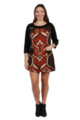 24/7 Comfort Apparel Jordana Sweater Knit Dress - Plus
