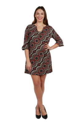 24/7 Comfort Apparel Eliana Luxury Sweater Knit Dress - Plus