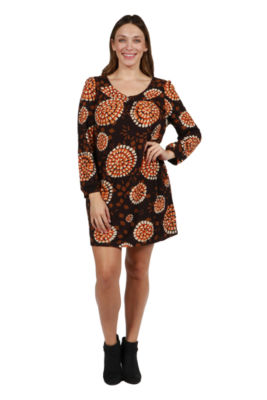 24/7 Comfort Apparel Cheyenne Luxury Sweater Knit Dress - Plus