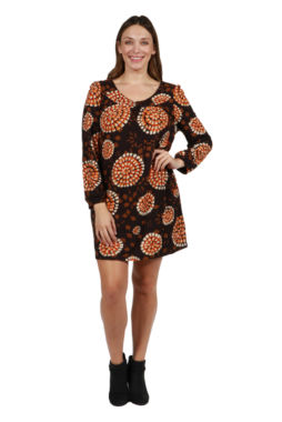 24/7 Comfort Apparel Cheyenne Luxury Sweater Knit Dress - Plus